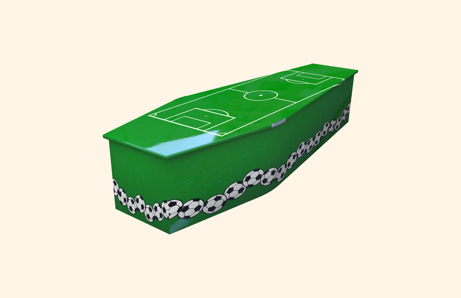Football Pitch child coffin