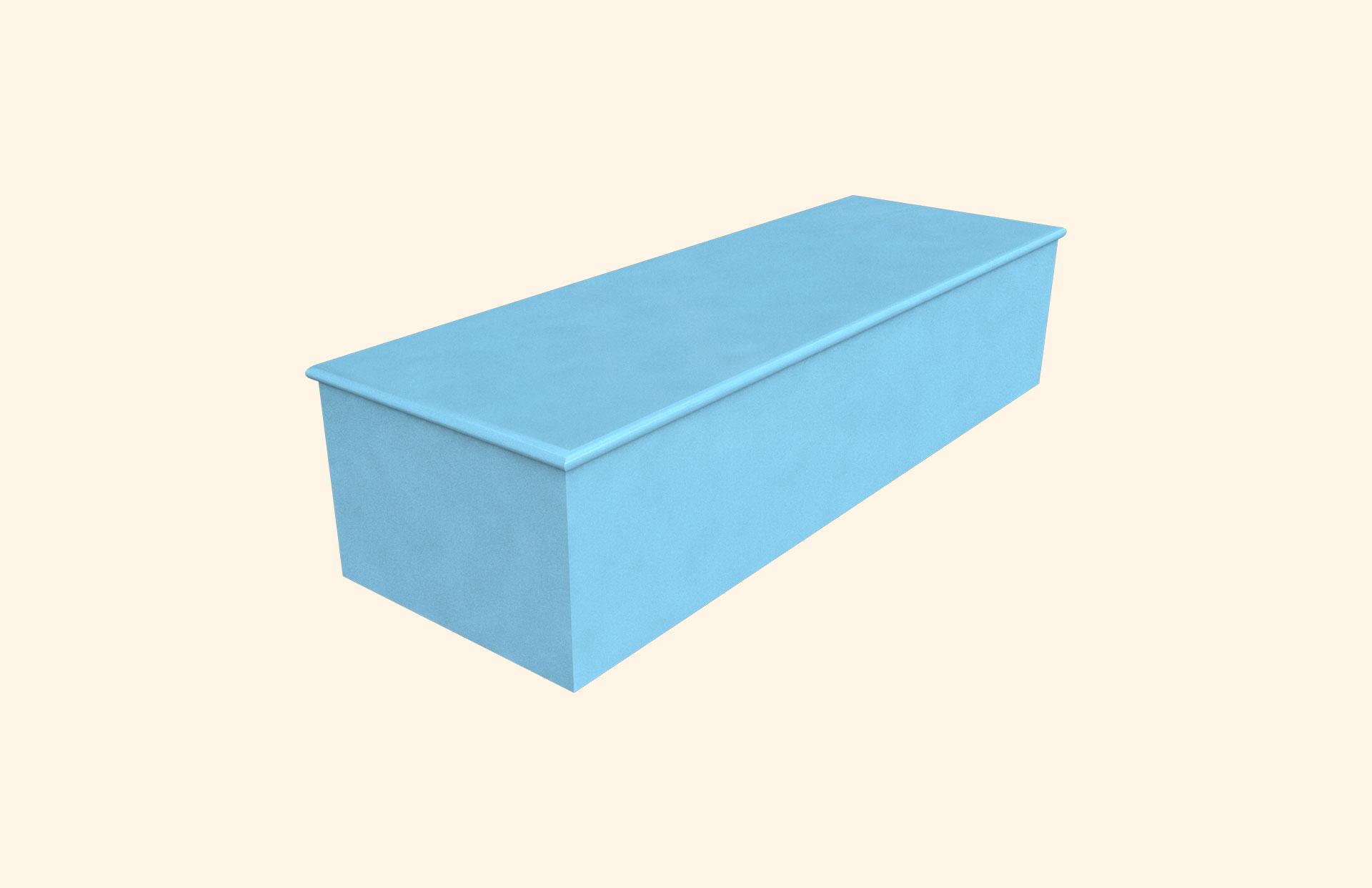 Plain Colour Baby Blue child casket