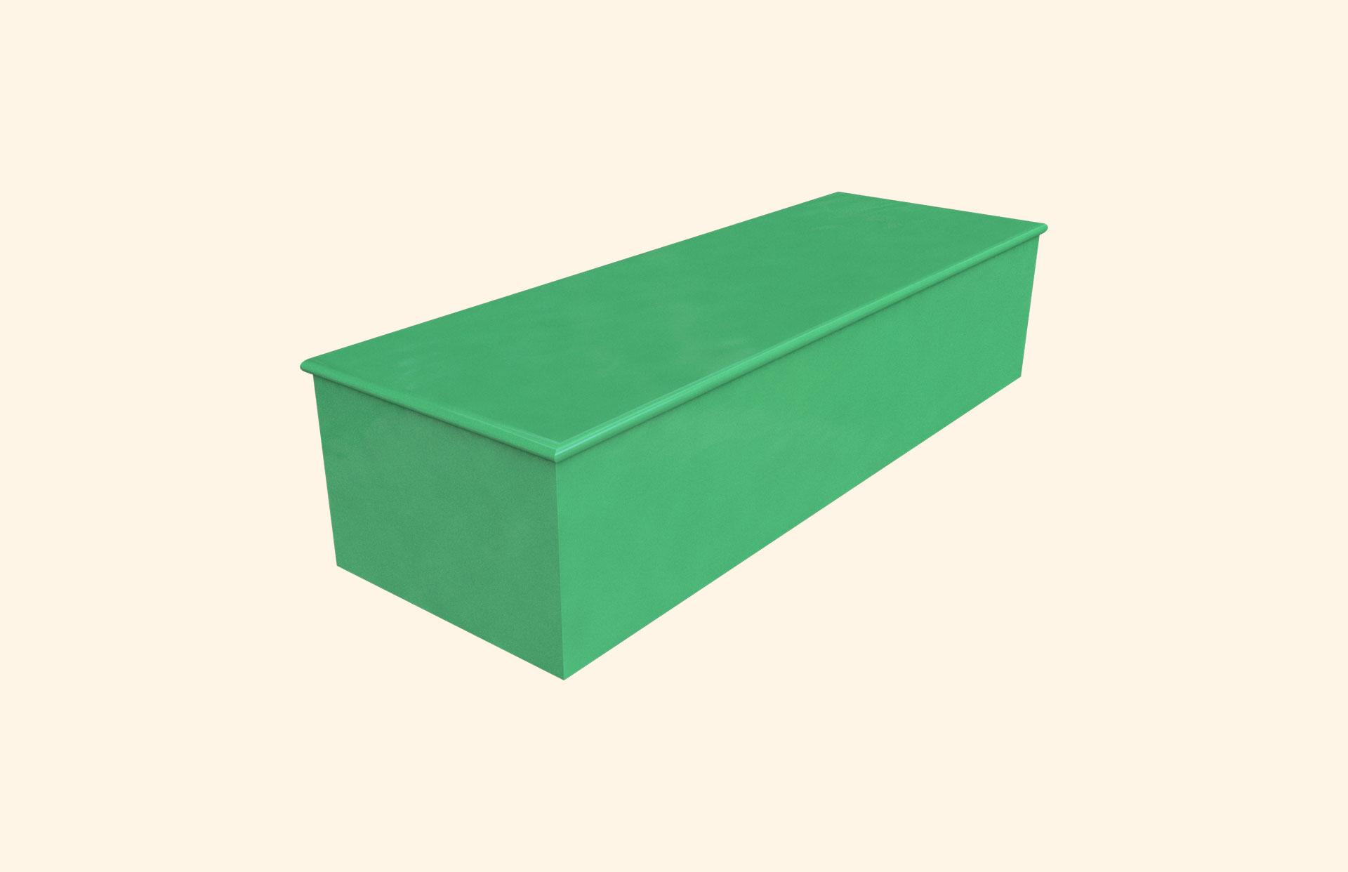 Plain Colour Bright Green child casket