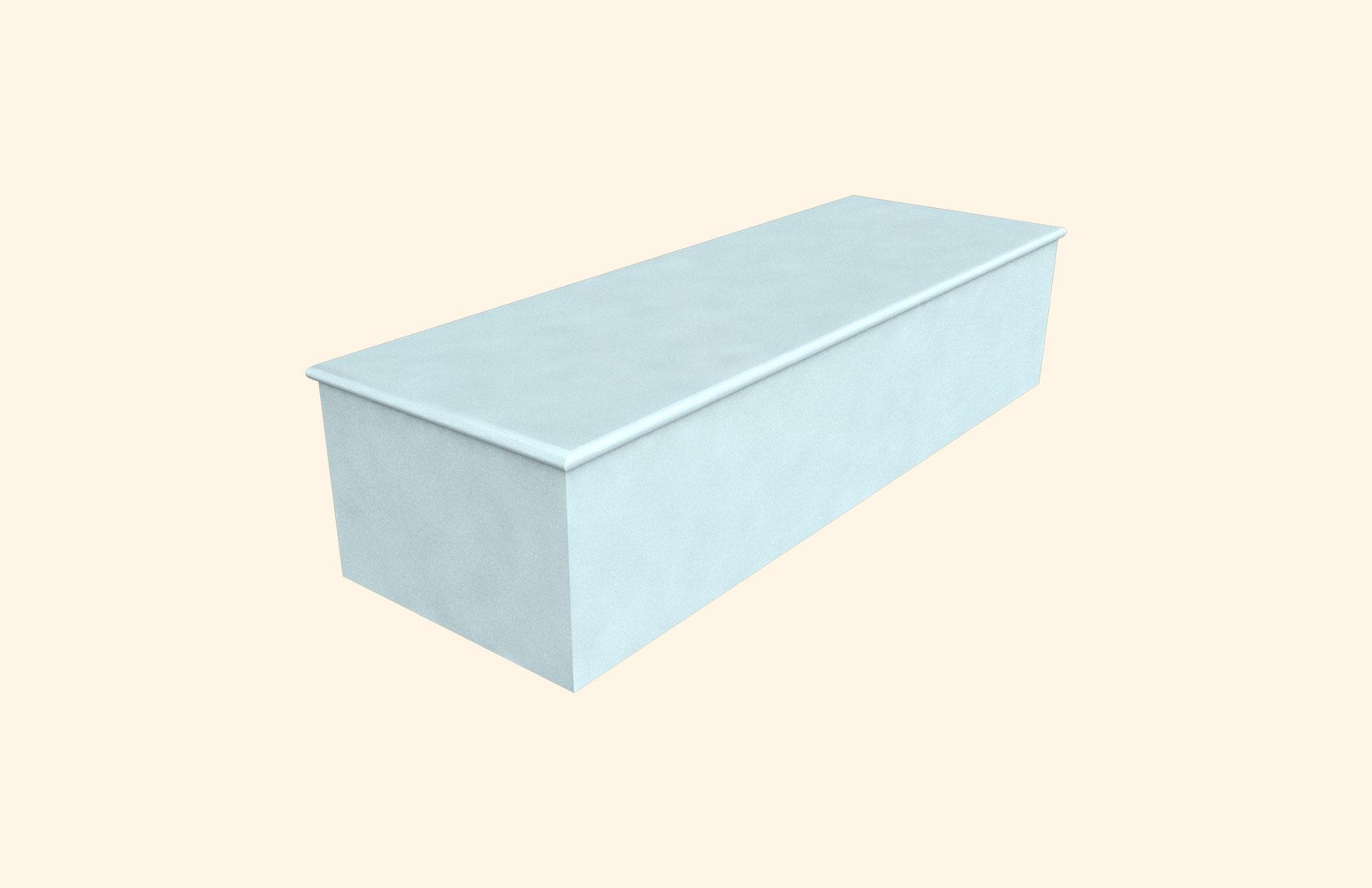 Plain Colour Crayola Pale Blue child casket