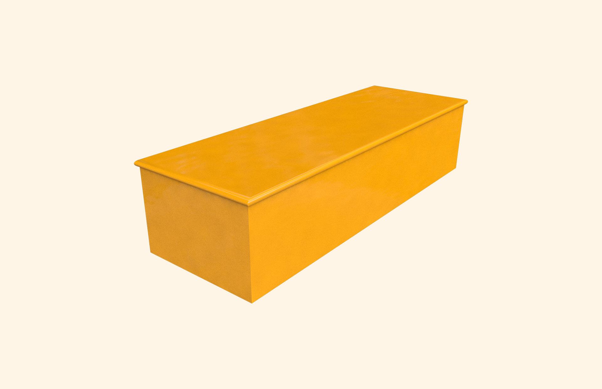 Plain Colour Flash of Orange child casket