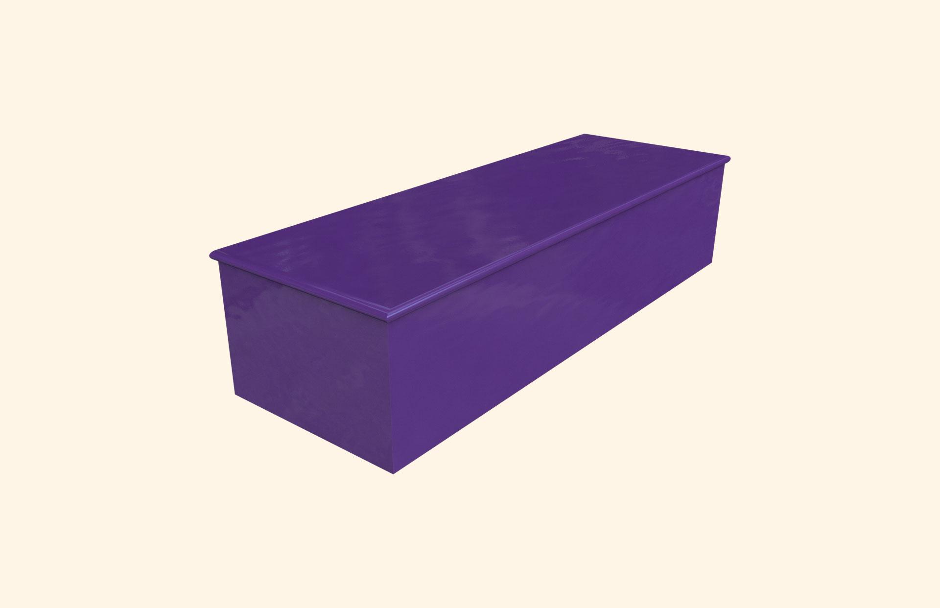 Plain Colour Imperial Purple child casket