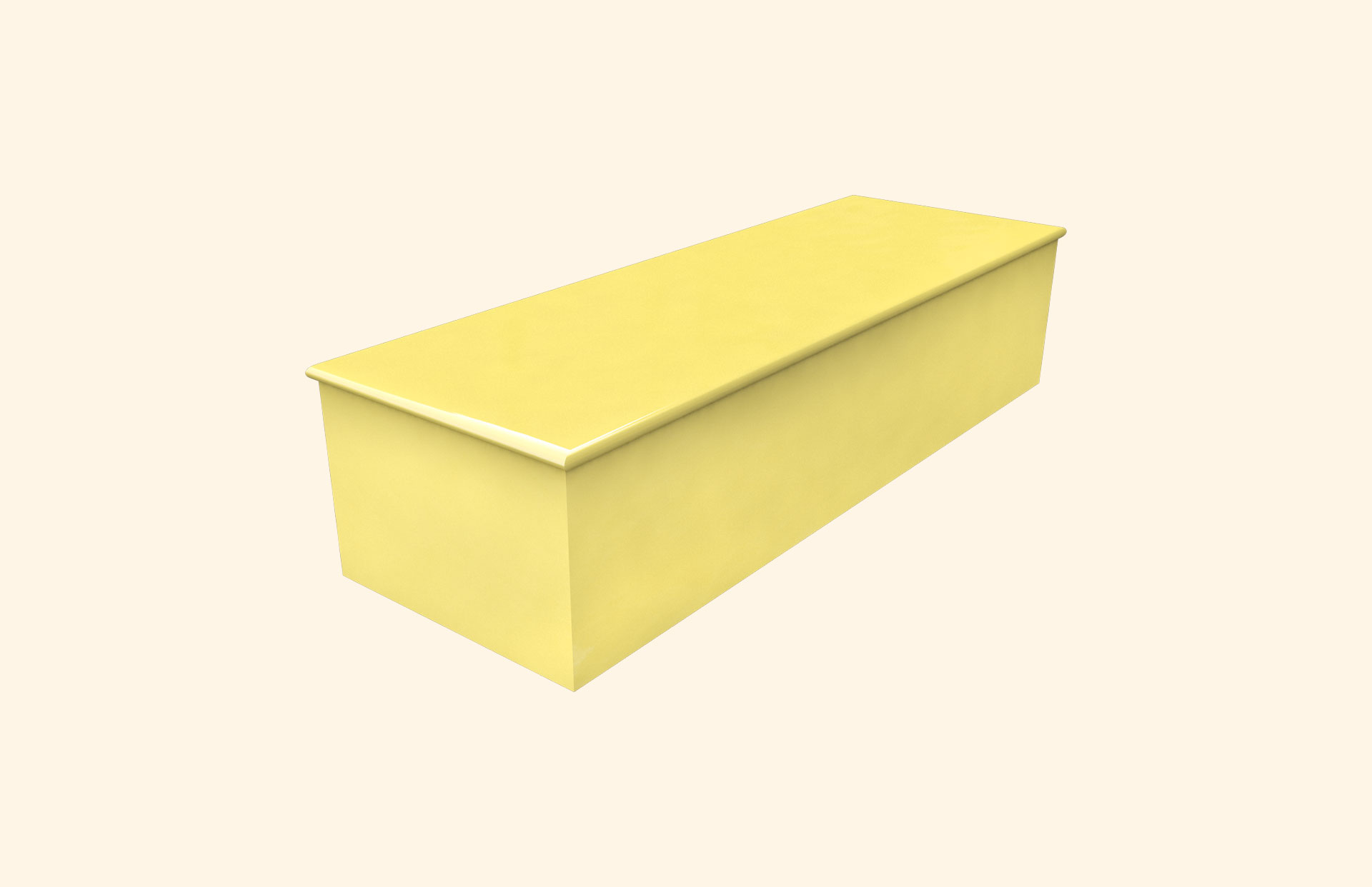 Plain Colour Summer Yellow child casket