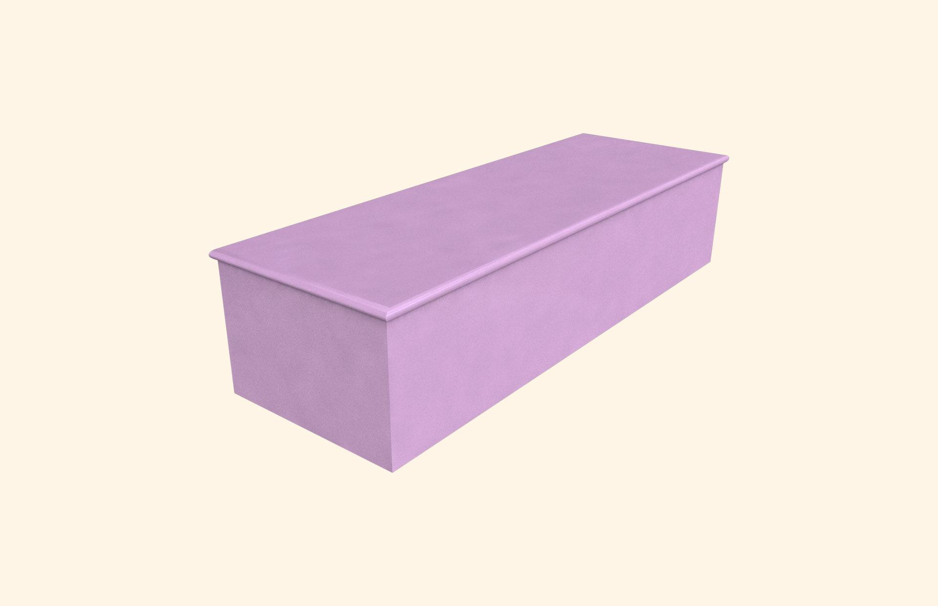 Plain Colour Very Violet child casket
