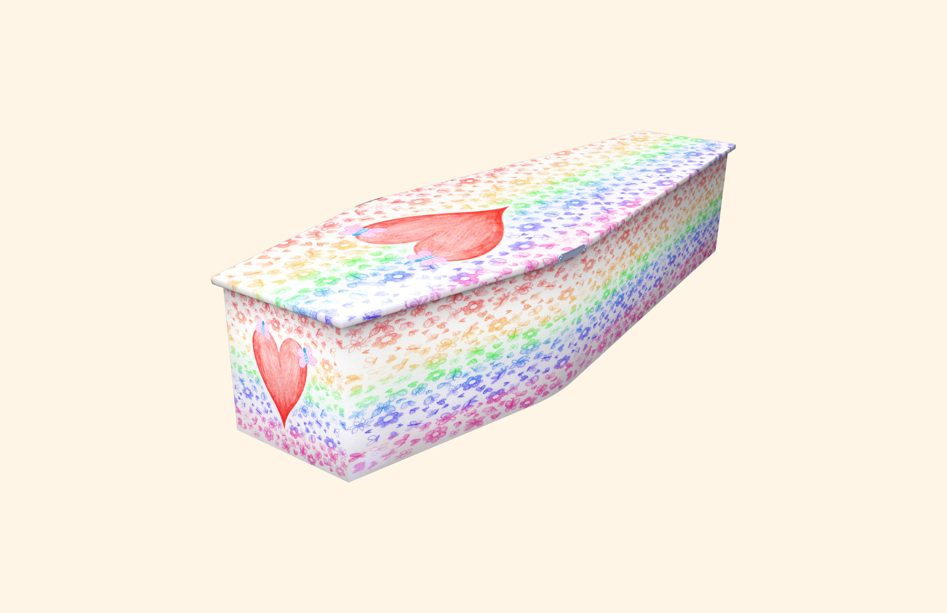 Little Hearts and Flowers child coffin