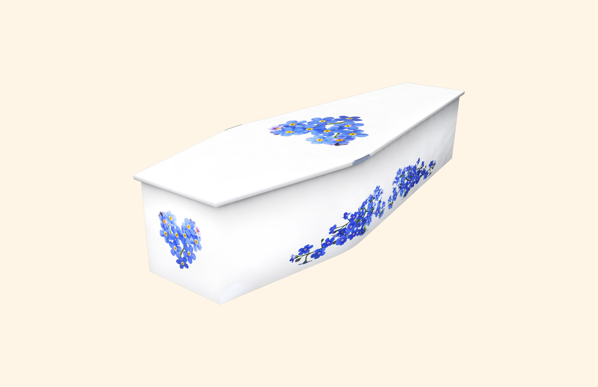 Heart of Forget Me Not child coffin