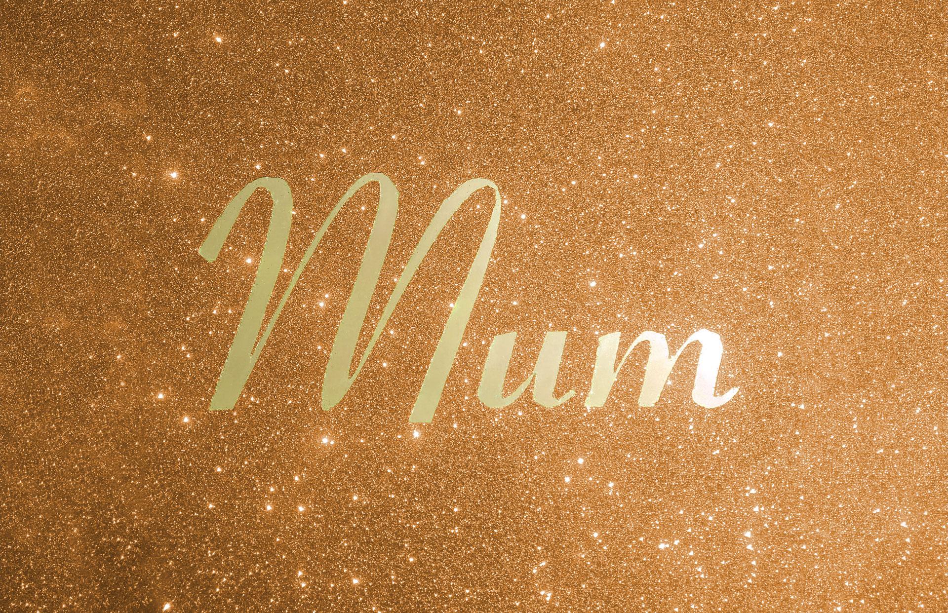 Mirror wording shown in gold