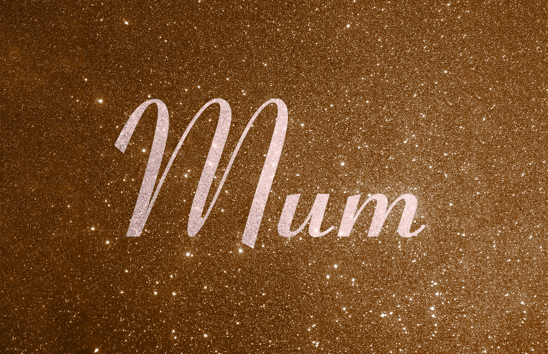 Glitter contrast wording shown in baby pink