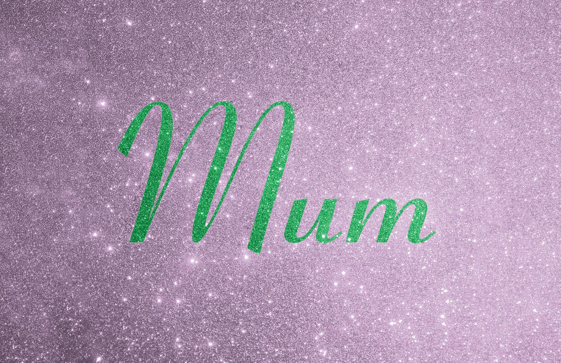 Glitter contrast wording shown in green