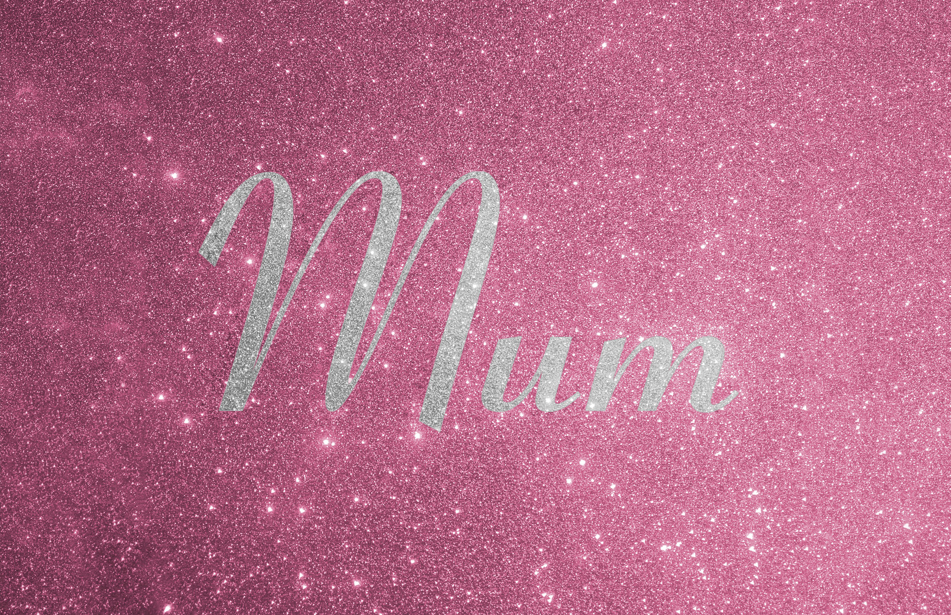 Glitter contrast wording shown in silver