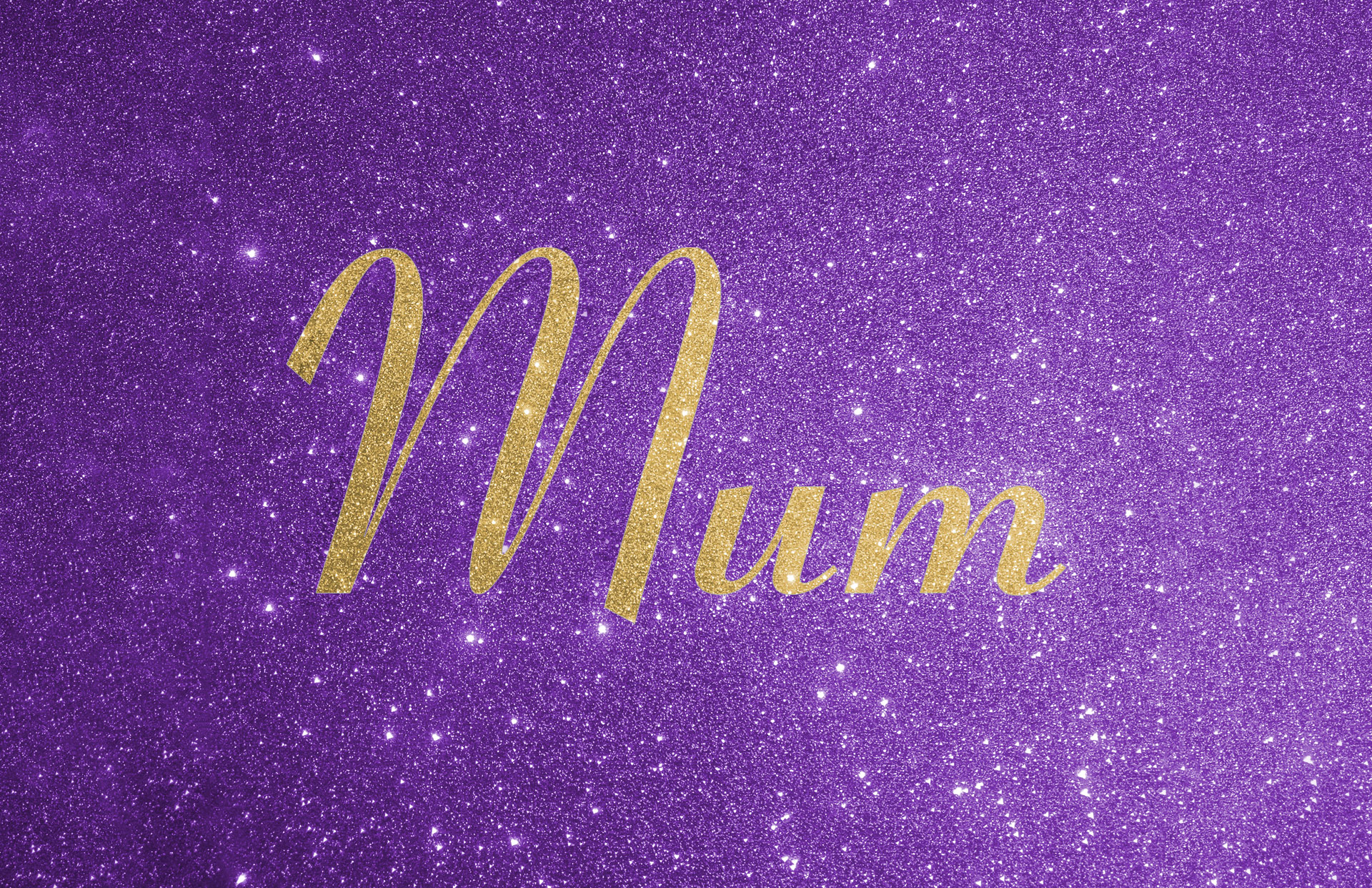 Glitter contrast wording shown in gold