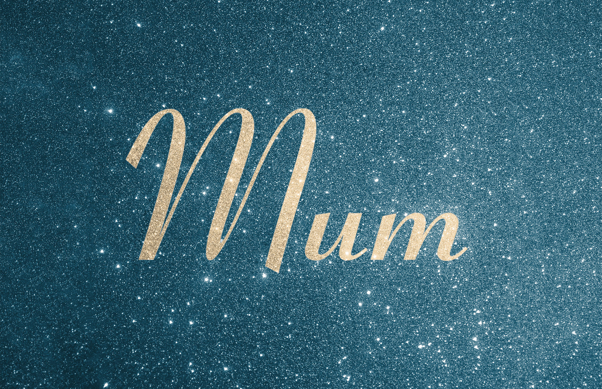 Glitter contrast wording shown in champagne