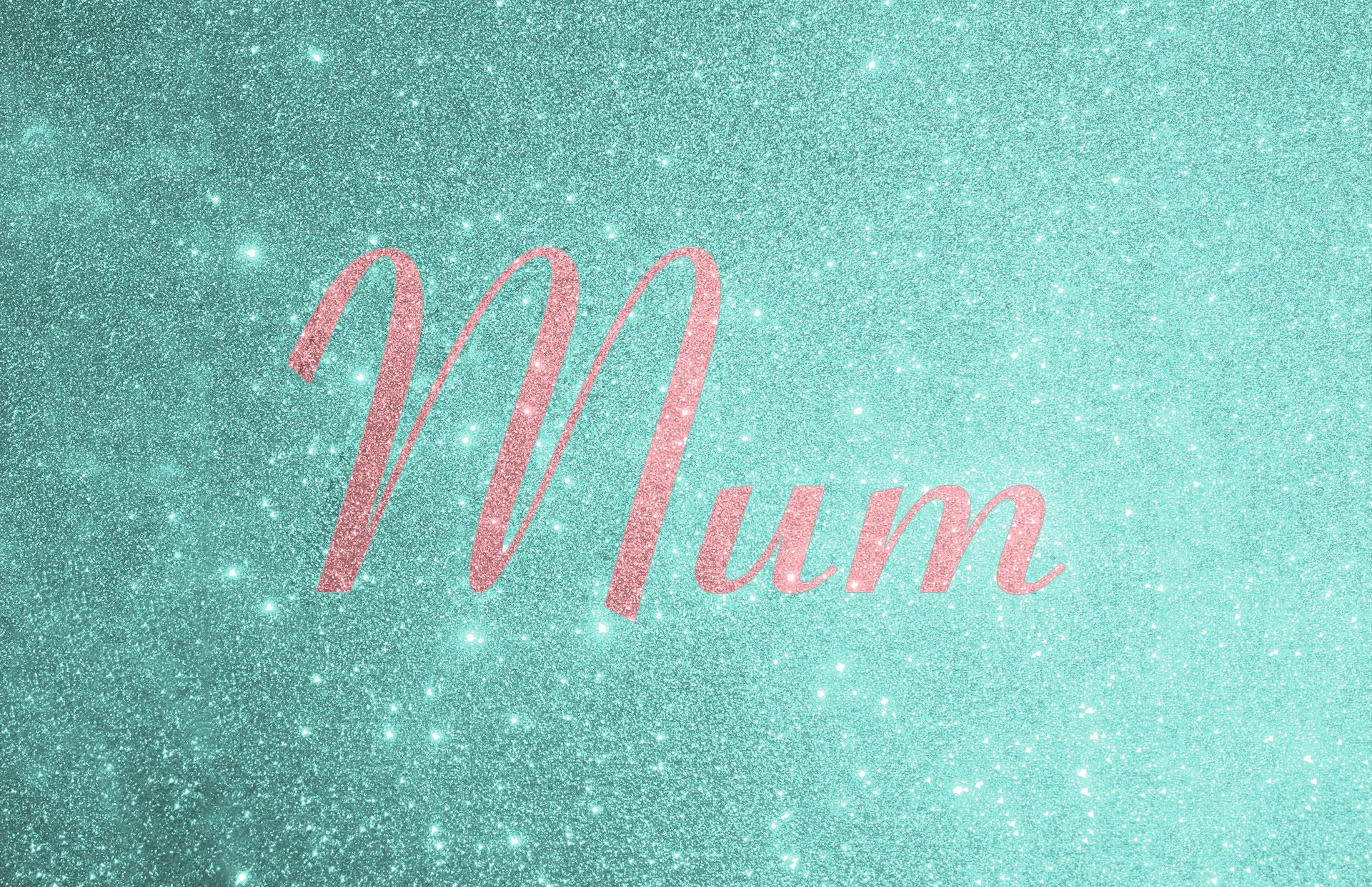Glitter contrast wording shown in disco pink