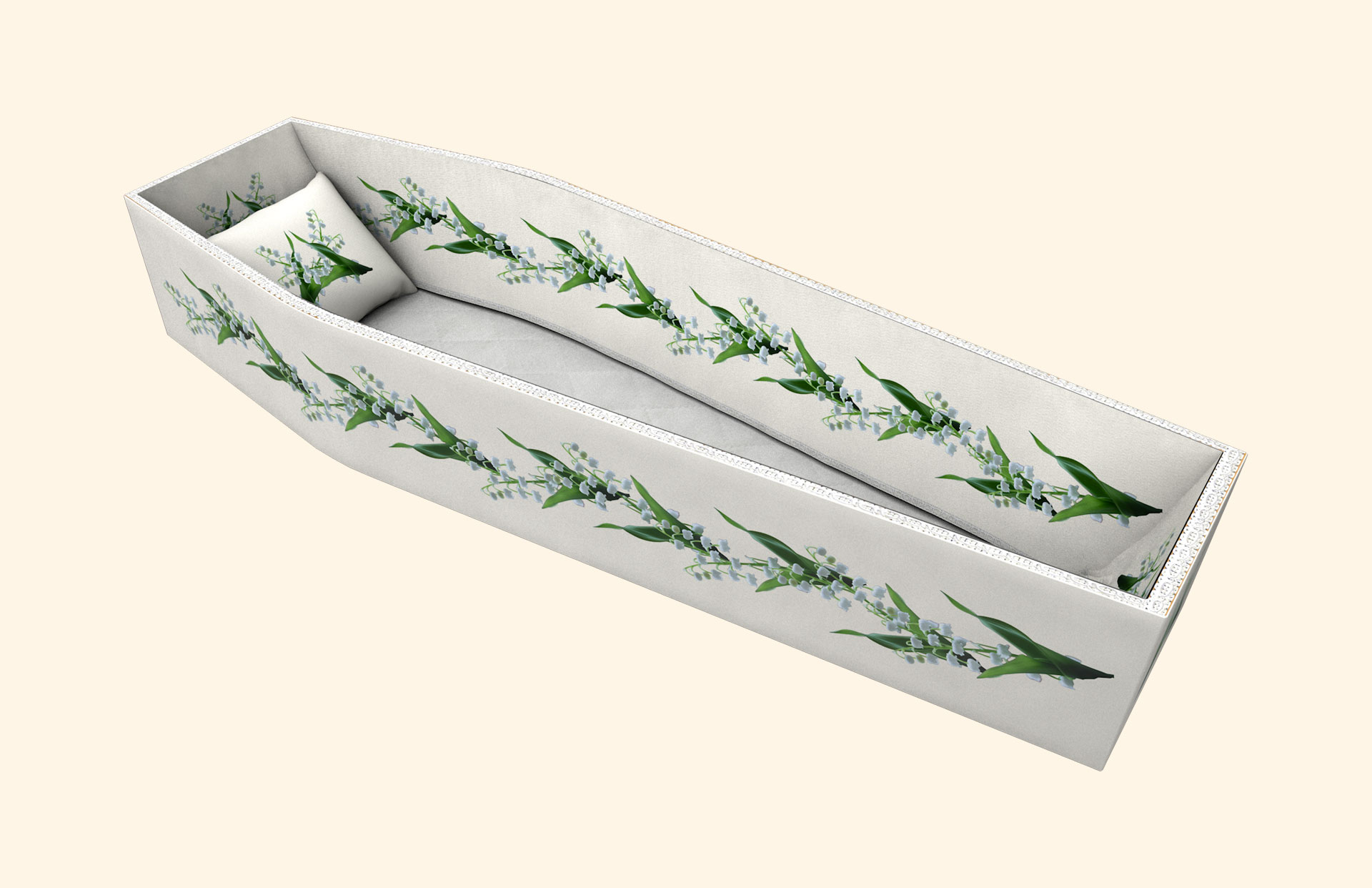 Lily of the Valley Garland side lining 3D