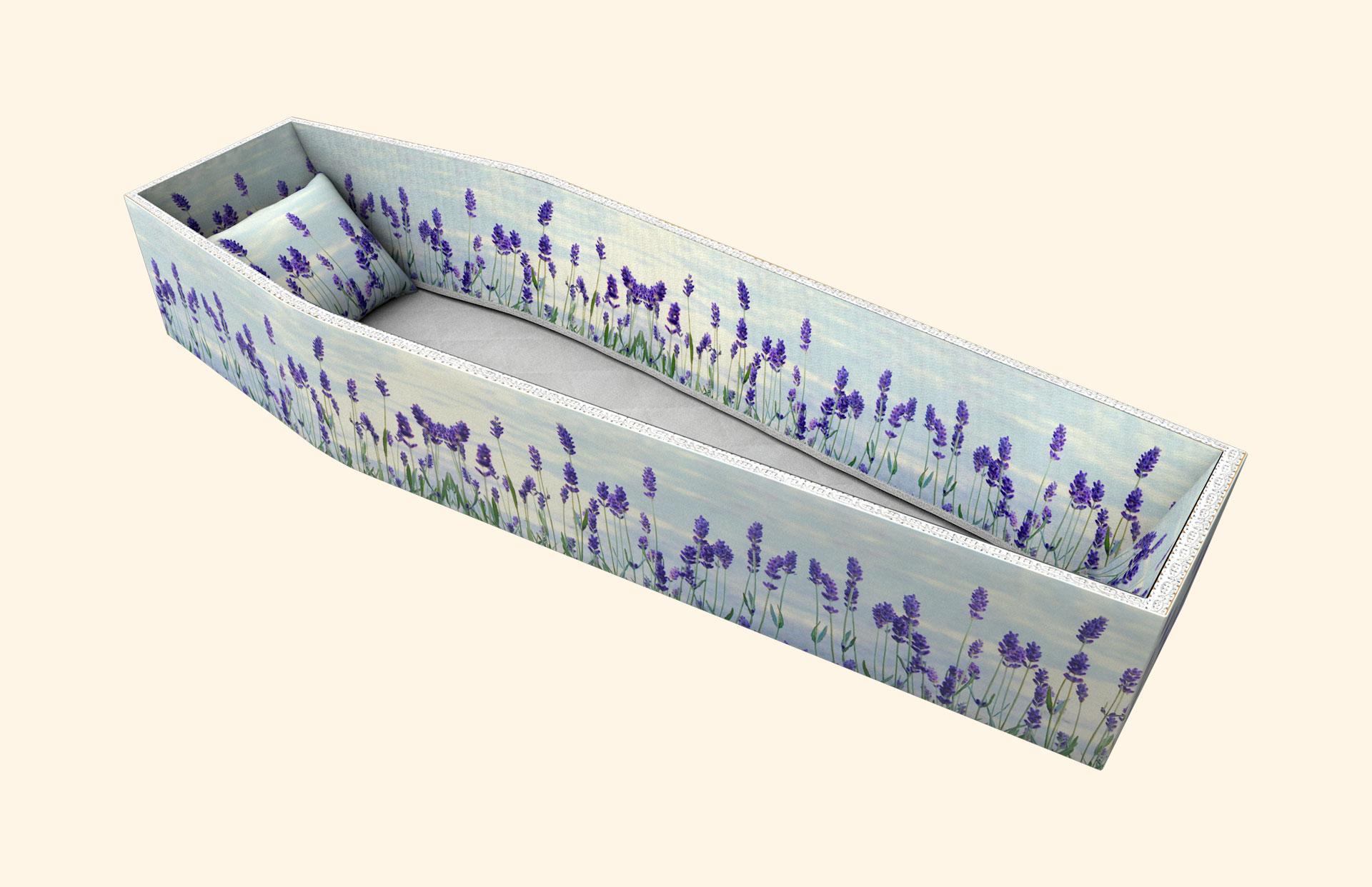 Lavender Flowers side lining 3D