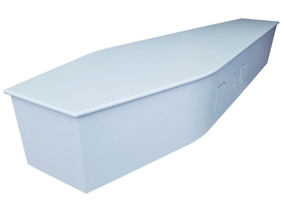 Carved coffin blue