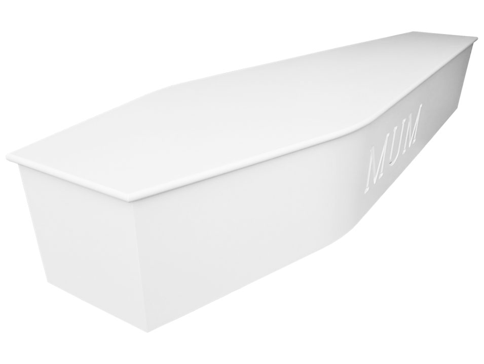 Carved coffin white