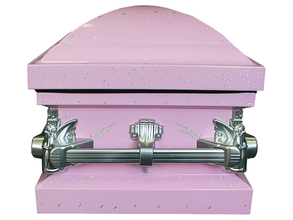 Ashley Child American Casket with crystal decoration