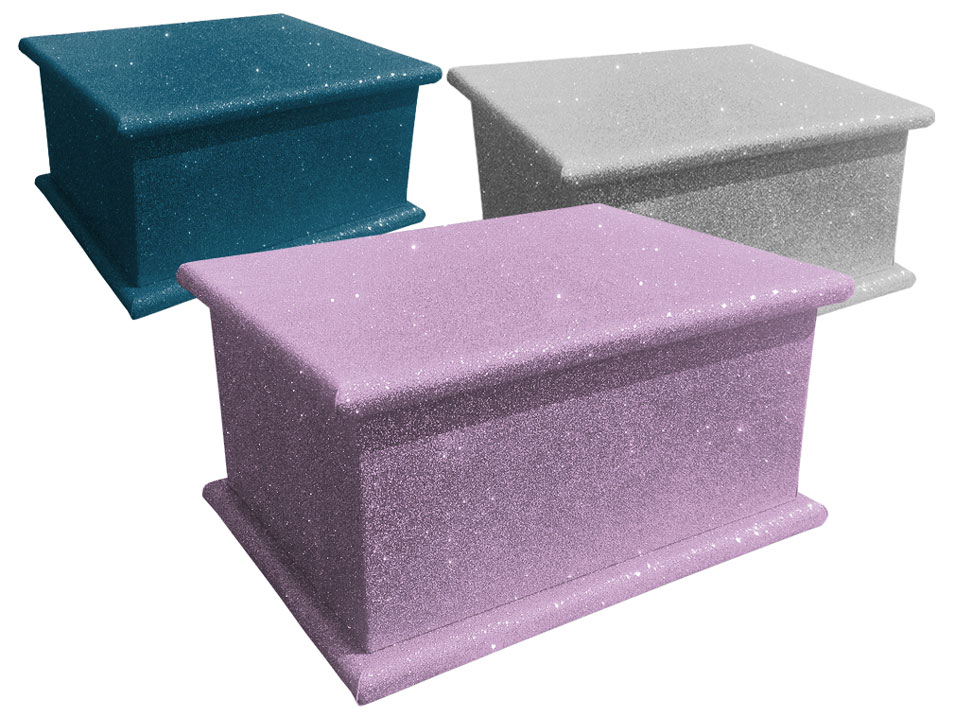 Glitter Cremated Remains Caskets
